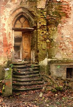 Love this doorway and this photo. This must have been a gorgeous home in its day! Portal by ondrejZapletal on DeviantArt