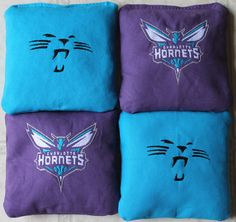 Panthers/Hornets Corn hole bags