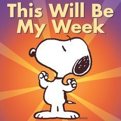 Yes, this will be my week ^_^ Love Snoopy stories at Charlie Brown Cafe community Die Peanuts, Charlie Brown And Snoopy, Peanuts Snoopy, Peanuts Characters, Cartoon Characters, Cartoon Pics, Hello Kitty Imagenes, Snoopy Quotes, Peanuts Quotes