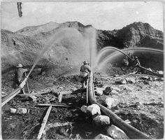 Hydraulic mining near French Corral, Nevada County
