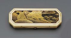 A GEORGE III GOLD-MOUNTED IVORY AND JAPANESE LACQUER TOOTHPICK CASE  CIRCA 1790
