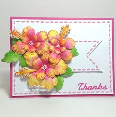 Searchwords: Dimensional Floral Thank You Card