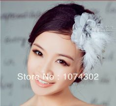 2014 new fresh Korean bride wedding headdress flower,A variety of feather headdress flower, party headdress headwear(China (Mainland)) #prom headbands