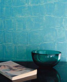 Papel pintado #turquesa cocodrilo #wallpaper #croco