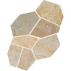 Daltile, Natural Stone Collection Golden Sun 12 in. x 24 in. Slate Flagstone Floor and Wall Tile sq. / case), at The Home Depot - Mobile Blue Backsplash, Beadboard Backsplash, Backsplash Cheap, Quartz Backsplash, Herringbone Backsplash, Kitchen Backsplash, Flagstone Flooring, Slate Flooring, Kitchen Flooring
