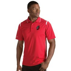 Men's Antigua Portland Trail Blazers Merit Polo, Size: Medium, White Oth