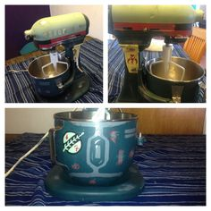 The Star Wars galaxy's most infamous bounty hunting cake mixer, Boba Fett kitchenaid standing mixer on Etsy, $375.00