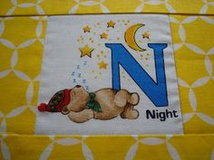 Alphabet embroidered quilt - Charm About You