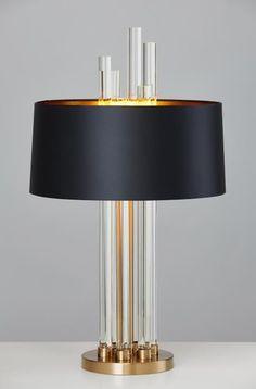 新款米兰个性现代水晶玻璃棒创意台灯设计师喜欢的台灯QQ2851712686 微信15879525484