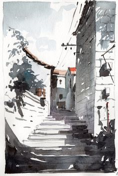 Korcula 1, watercolor by Tony Belobrajdic | AGA Design 2015 Resolution : DRAW MORE