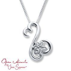 From the collection of Open Hearts Family by Jane Seymour™, this heartwarming necklace includes a paw print, fashioned with sparkling diamonds, to symbolize a family pet. The pendant, with a total diamond weight of 1/20 carat, is crafted of sterling silver and is suspended from an 18-inch box chain secured with a lobster clasp
