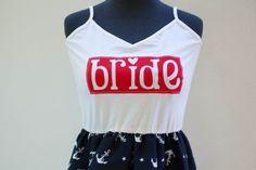 Nautical Red/Navy  Bride Dress Medium/Large by thearmorofGod, $45.00