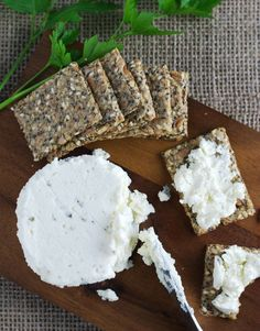 These light and crispy low carb seed crackers are the perfect side-kick for cheese, dips, and spreads. Nut-free, dairy-free, and egg-free. Low Carb Bread, Low Carb Keto, Nut Free, Dairy Free, Low Carb Crackers, Party Food And Drinks, Keto Snacks, Cheese Dips, Food Inspiration