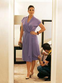 Wrap Dress (Plus Size) 02/2011 lightweight drapey dress fabrics. 3.00:150w