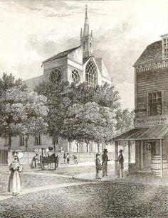 St. Patrick's Day-vintage print of St. Patrick's church
