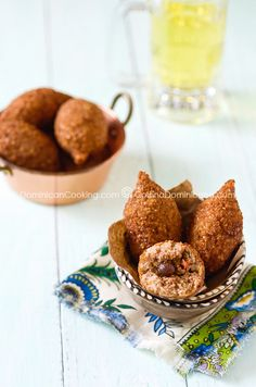 Quipes or Kipes (Deep fried bulgur roll)