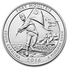 Silver, Fort Moultrie at Fort Sumter National Monument, South Carolina - America the Beautiful Bullion Coin - reverse side Bullion Coins, Silver Bullion, America The Beautiful Quarters, Fort Sumter, Silver Quarters, Coin Shop, Coin Jewelry, Rare Coins, Silver Bars