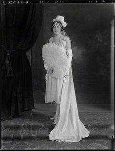 Constance Sayer, nee Talbot, in 1928, wearing the family belle epoque floral tiara bandeau-style