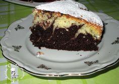 Torta variegata  al cocco e cacao