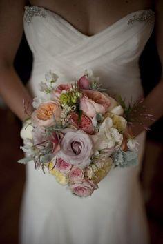 Pink & lavender wedding bouquet