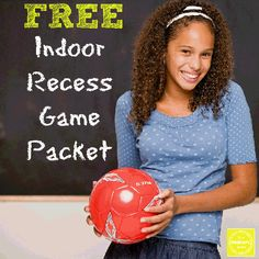 FREE Indoor Recess Packet from www.YourTherapySource.com