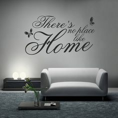There's No Place Like Home v2 Wall Decal Sticker Quote