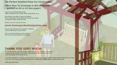 SW100 - Arbor Swing Woodworking Plans - Outdoor Furniture Plans Free, via YouTube.