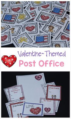 Includes printables for a Valentine-Themed post office or a regular post office