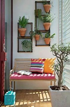 The plants arranged on the mini balcony offer a romantic atmosphere to this little corner of paradise. #SummerDecor