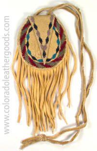Beaded Apache Neck Bag