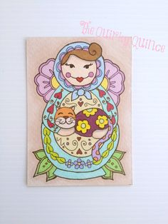 Original+Ink+Illustration+ACEO++Dasha+the+by+TheQuirkyQuince,+£7.50