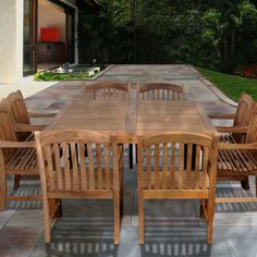 When you plan to invest in patio furniture you want to find some that speaks to you and that will last for awhile. Although teak patio furniture may be expensive its innate weather resistant qualit… Patio Bar Set, Patio Table, Patio Dining, Wood Patio Furniture, Outdoor Furniture Sets, Outdoor Dining Set, Outdoor Decor, Outdoor Games, Outdoor Ideas
