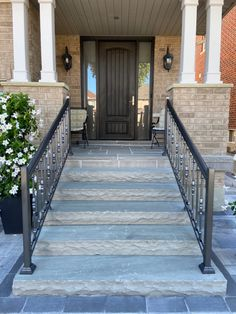 Stunning front entrance Front Entrances, Natural Stones, Deck, Stairs, Landscape, Outdoor Decor, Nature, Home Decor, Stairway