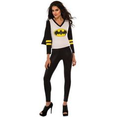 Batgirl Womans Sporty Tee Halloween Costume, Women's, Size: Small, Multicolor
