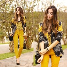 Get this look: http://lb.nu/look/7520206  More looks by Flávia Desgranges van der Linden: http://lb.nu/fashioncoolture  Items in this look:  Lez A Lez Blazer, Lez A Lez Top   #casual