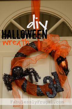 Learn how to make this fun and easy Halloween wreath for under $12!