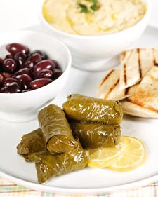 Brown Rice Stuffed Grape Leaves @  http://www.marthastewart.com/353665/brown-rice-stuffed-grape-leaves