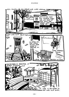 A collection of Brian Canini's daily journal comics from April 2012 to April 2013 with an introduction by Chris Monday.  Brian Canini gives us a glimpse behind the panels of Drunken Cat Comics and into his brain and heart with a year of journal comics which will leave you wondering, What made him t