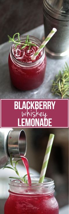 Blackberry Whiskey Lemonade | This refreshing blackberry cocktail is perfect for summertime! A sweet and refreshing whiskey cocktail drink with sweet blackberries and a hint of earthiness from fresh rosemary.