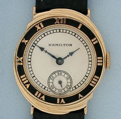 Vintage Wrist Watch - Hamilton Yellow Gold Spur Luxury Watches, Rolex Watches, Hamilton Watch Company, Beautiful Watches, Wristwatches, Clock, Dreams, American, Yellow