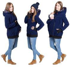 GoFuture Damen Tragejacke für Mama und Baby 4in1 Känguru Jacke Umstandsjacke…