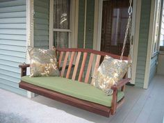 Porch Swing With Cushion