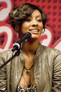 Black women short haircuts with bangs
