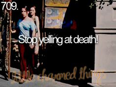 'Stop yelling at Death!' ~ Little charmed things #Charmed #littlecharmedthings #halliwells