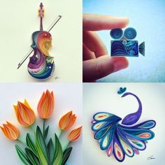 Colorful Quilled Paper Designs