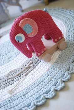 pink elephant--no knit or crochet pattern for it, but wouldn't it be darling made from an old sweater