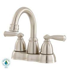 MOEN Banbury 4 in. Centerset 2-Handle High-arc Bathroom Faucet in Spot Resist Nickel-CA84913SRN at The Home Depot