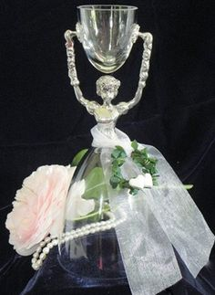 Viola Nuernberg German Crystal And Pewter Bridal Wedding Cup