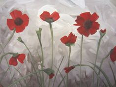 How to paint Poppies Tutorial!