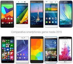 Comparativa especificaciones móviles entre 150 y 300 euros: Moto G, Huawei Ascend G7, Xiaomi, Nokia Lumia, Sony Xperia M2, Samsung Galaxy A, bq...